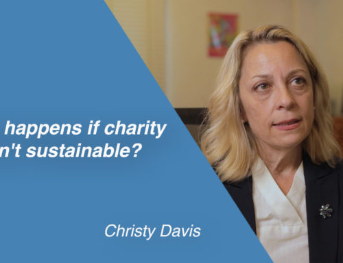 What happens if charity isn't sustainable?